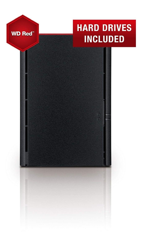 Buffalo LinkStation 220DR Ethernet Escritorio Negro NAS - Unidad Raid (2 TB, Unidad de Disco Duro, Unidad de Disco Duro, Serial ATA III, 1 GB, 4 TB)