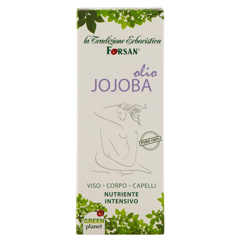 La Tradizione Erboristica Forsan - Olio Jojoba Puro al 100% - Olio Nutriente Per Massaggi al Corpo, Pelle del Viso e Capelli - 50 ml AeD Gruppo Alimentare