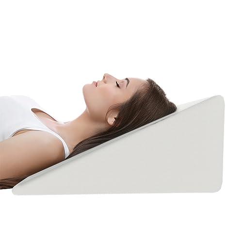Amazon.com: Almohada de cuña de cama para dormir y ácido ...