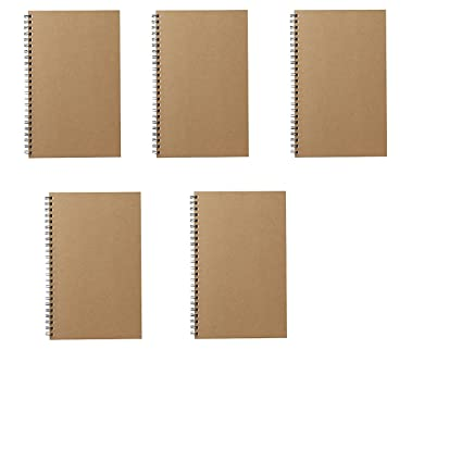 MOMA Muji Grid - Cuaderno (A5 7 ㎜ 48sheets - Pack de 5books Beige ...