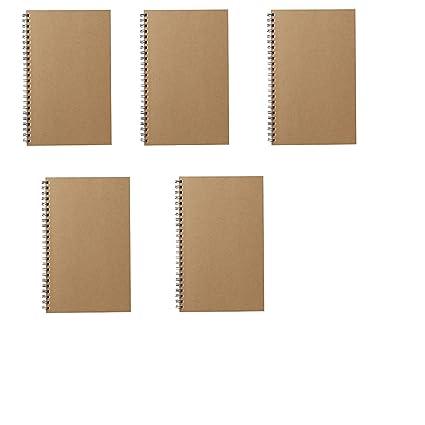 MOMA Muji Grid - Cuaderno (A5 7 ㎜ 48sheets - Pack de 5books Beige: Amazon.es: Oficina y papelería