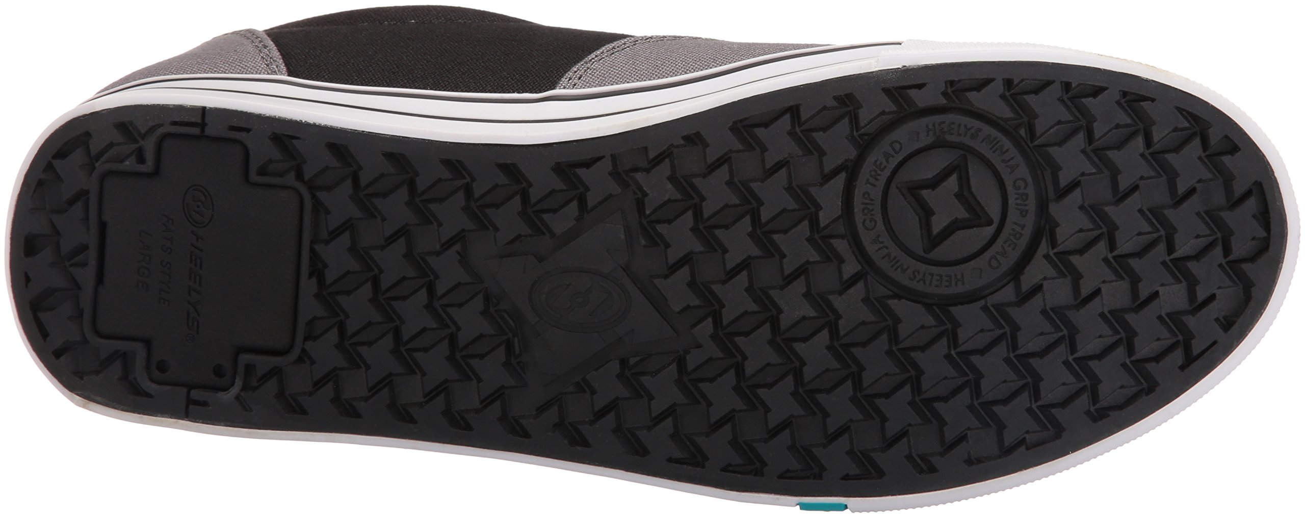 Heelys Men's Launch Fashion Sneaker Charcoal/Black/Lime 10 M US by Heelys (Image #3)