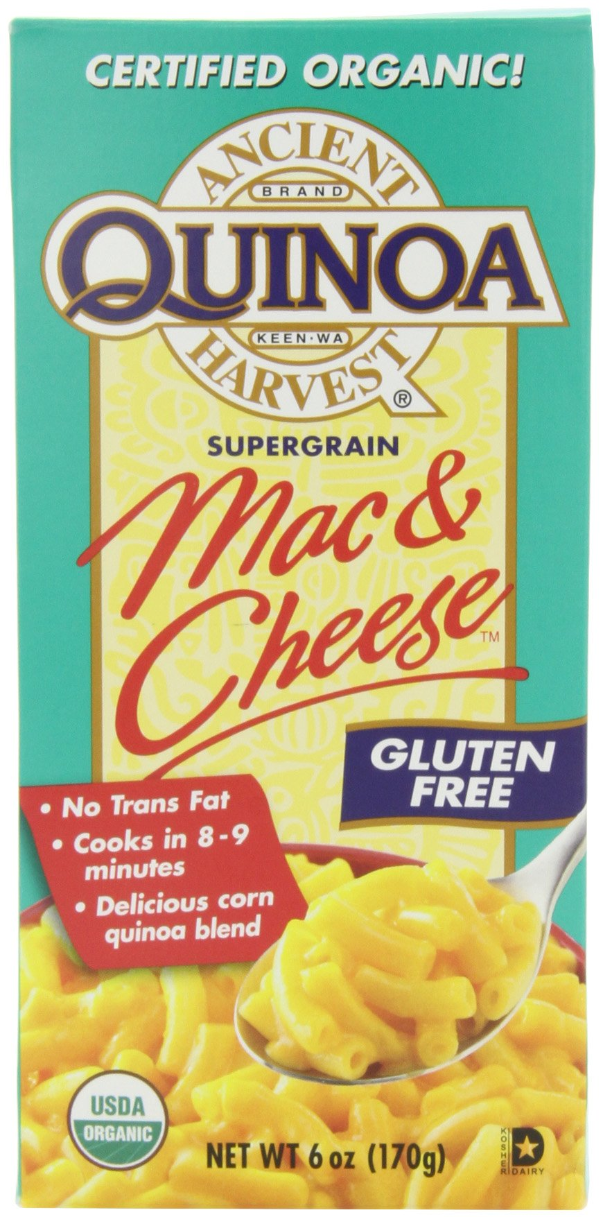 Ancient Harvest Quinoa Mac and Cheese, 6-Ounce (Pack of 6)