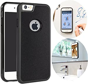 CloudValley Anti Gravity iPhone 6 Case, iPhone 6S Phone Case [Black] Magical Nano Can Stick to Glass, Whiteboards, Tile and Smooth Flat Surfaces for Apple iPhone 6 (2014) / iPhone 6S (2015)