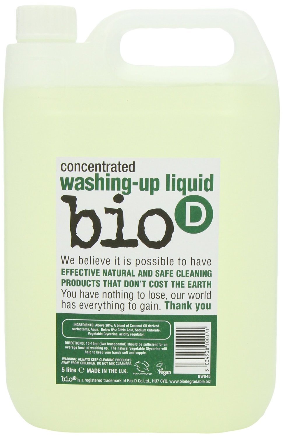 (10 PACK) - Bio-D - Washing Up Liquid | 5000ml | 10 PACK BUNDLE