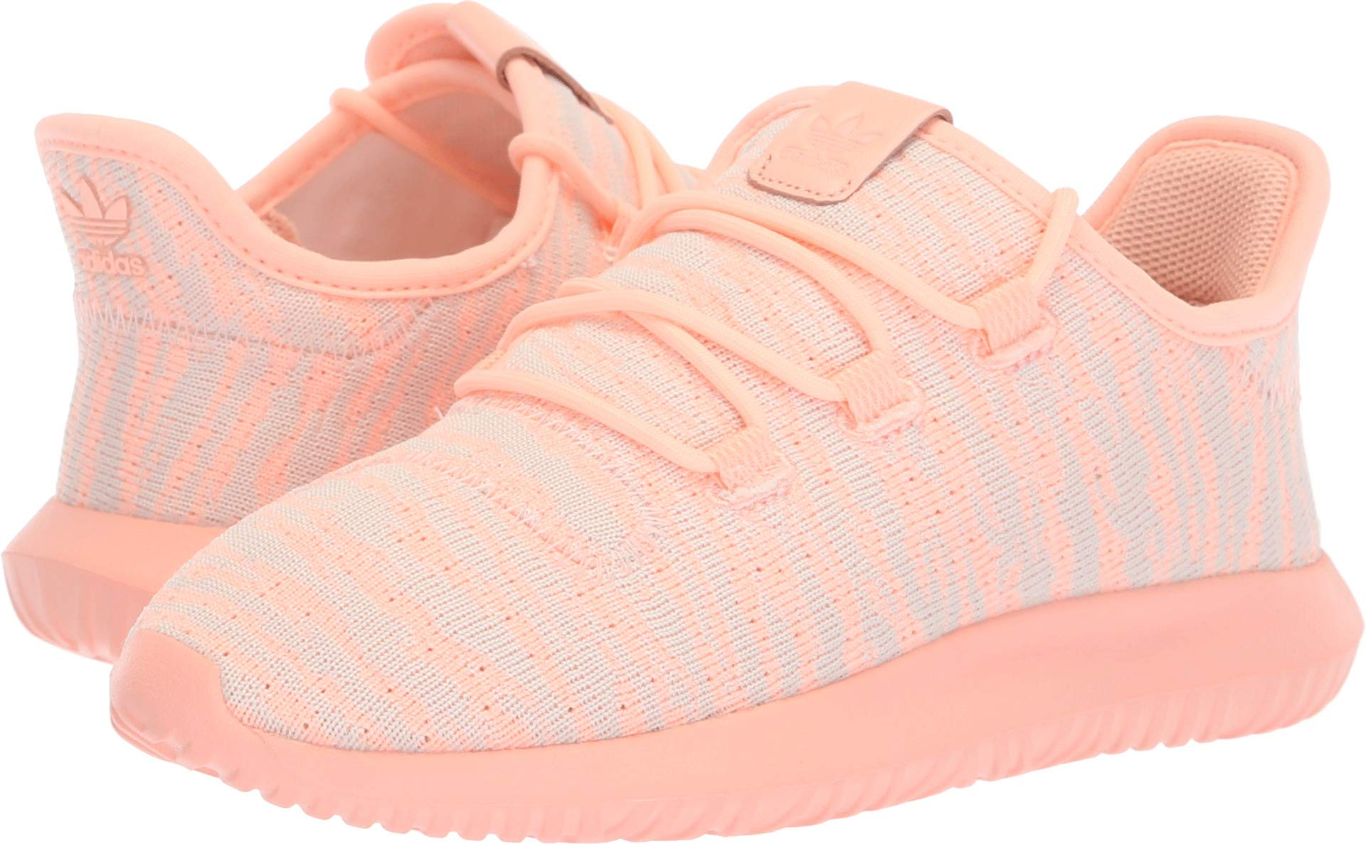 adidas Originals Kids Girl's Tubular Shadow C (Little Kid) Clear Orange/White/Light Pink 12 M US Little Kid