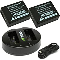 Wasabi Power Battery (2-Pack) and Dual Charger for Fujifilm NP-W126
