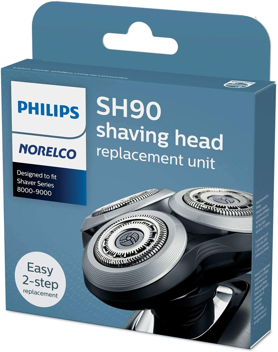 Philips Norelco SH90 / 72 Cabezales de repuesto nueva versión para ...