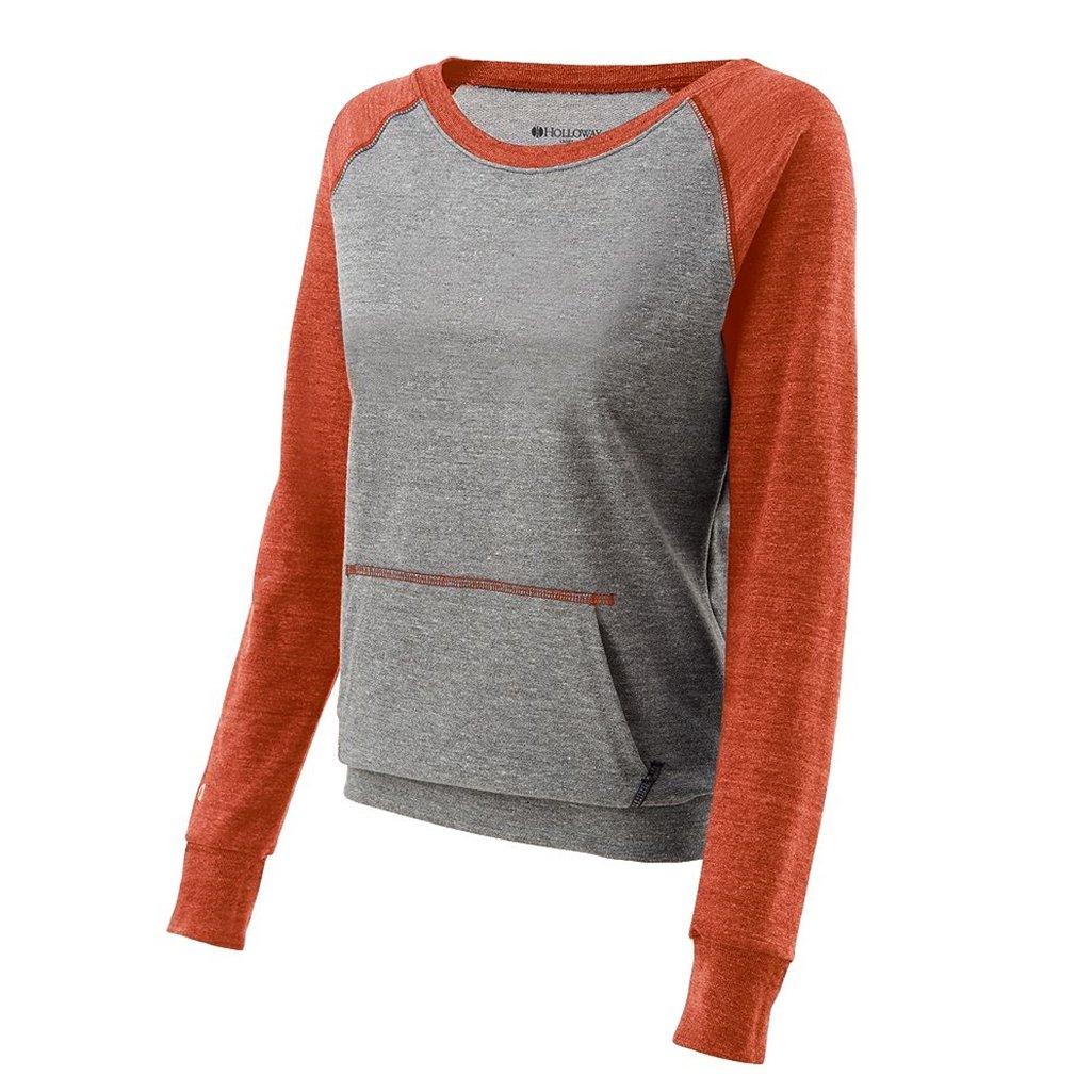 Holloway Juniors Candid Vintage Crew Shirt (XX-Large, Vintage Grey/Vintage Orange) by Holloway