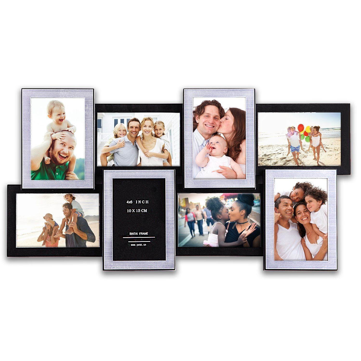 8 Opening Gallery Collage Wall Hanging Frame Set 12 by 23