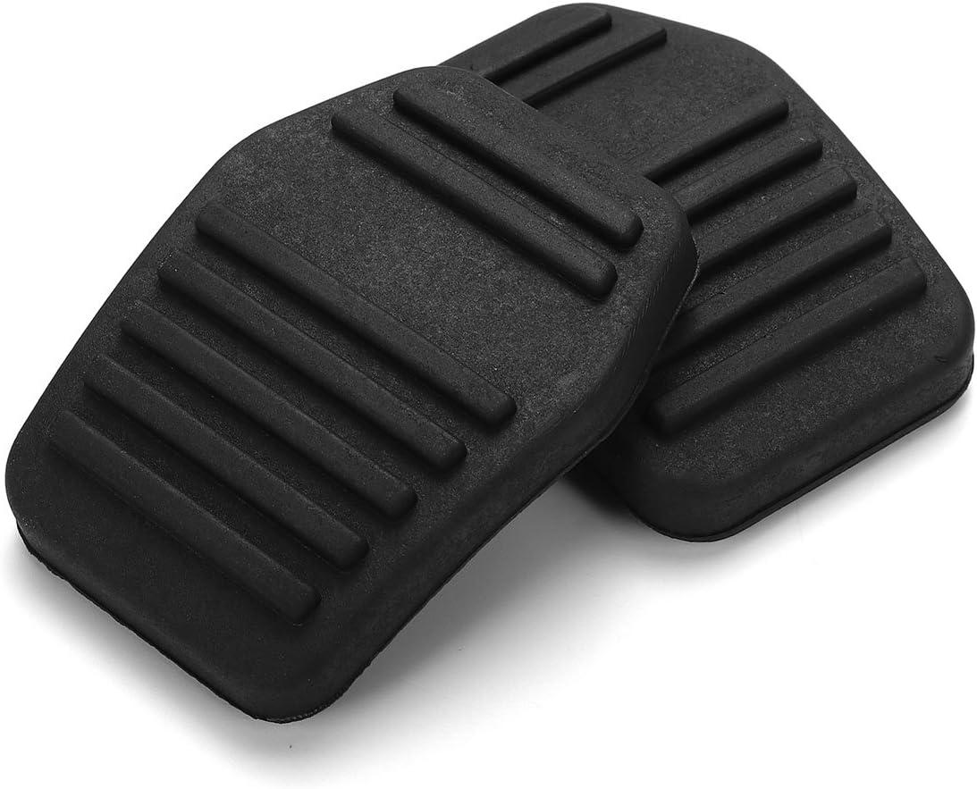 JenNiFer 2Pcs Cubierta Antideslizante De Caucho del Coj/ín del Pedal del Coche Y Cubierta del Protector del Embrague para Ford Transit Mk6 Mk7