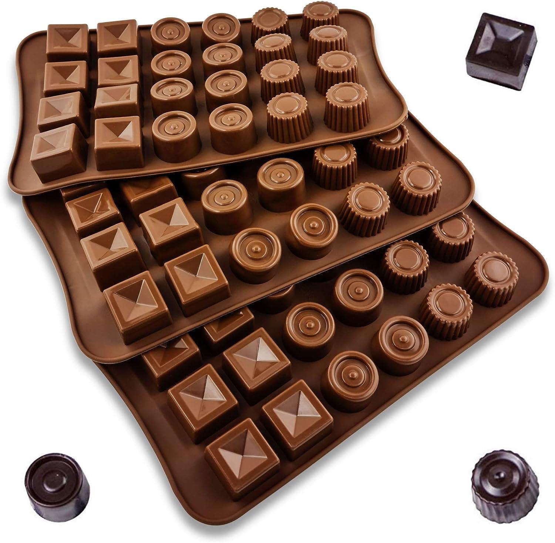 Antihaft-Silikon BPA-Frei Pralinenform UMI Schokoladenform Schokolade selbst gemacht by 3er Pack