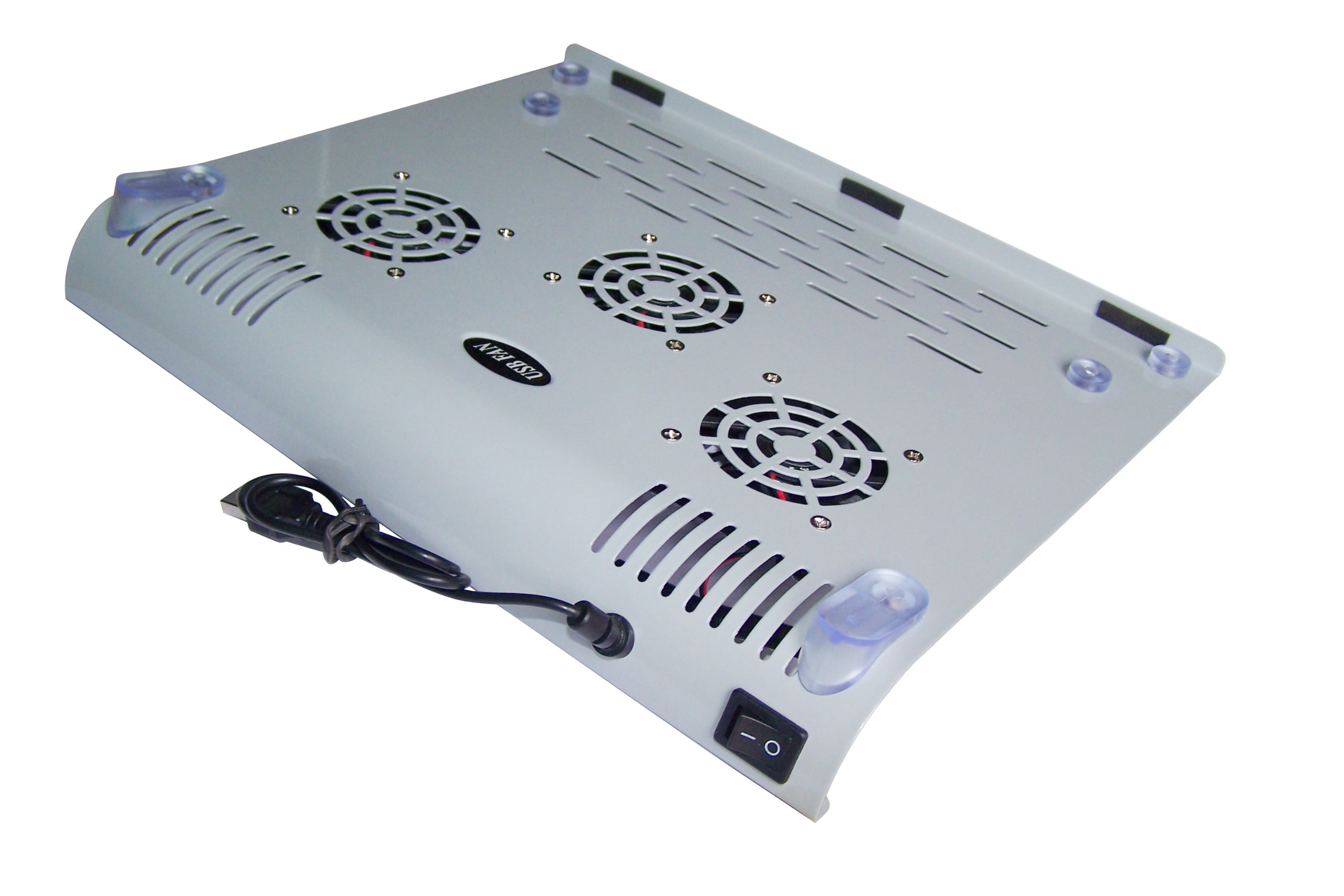 Cubeternet Premium USB Powered Metal Cooler Pad with 3 Built-in Fans for Laptop Computer