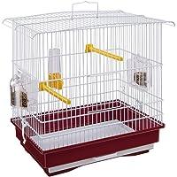 Ferplast 52008514W2 GIUSY Rechthoekige vogelkooi voor kanaries en kleine exotische vogels, draaiende voederbakken…