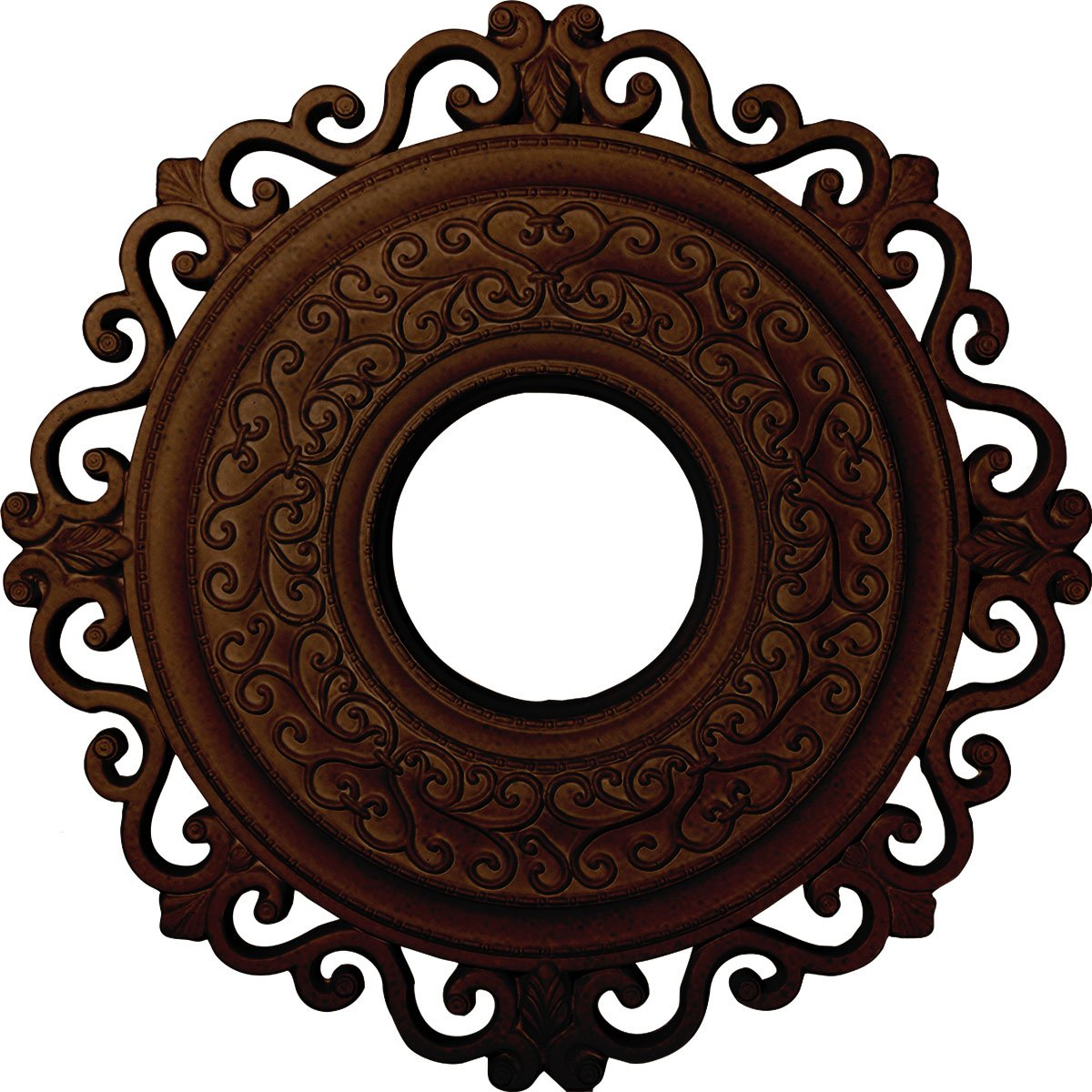 Ekena Millwork CM22ORRZS 22'' OD x 6 ID x 1 3/4'' P Orrington Ceiling Medallion (fits Canopies up to 6 1/4''), Rubbed Bronze