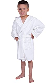 Amazon.com  Kid s Hooded Terry Cloth Bathrobe - Cozy Robe by for ... 7d4bcf7b1