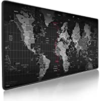 EXCO XXL Mousepad Pattern Mousepad Non-Slip Base,Comfortable to The Touch,Smooth Fabric,Positioning Accuracy Cleanable,Business Black Not Easy to Dirty,Stitched Edge mouse pad (Map)