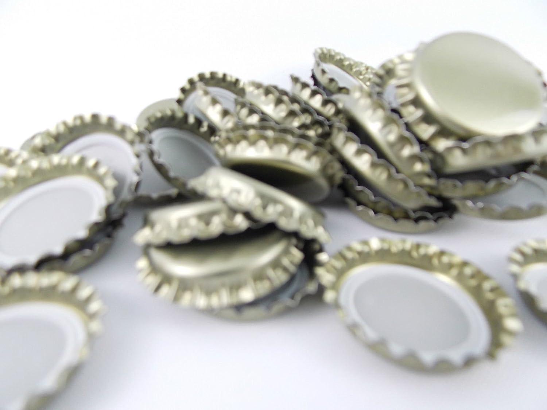 150 x Gold Crown Caps Capping BEER BOTTLING GLASS PET- ᴓ 26mm Metal Lids Tops BIOWIN
