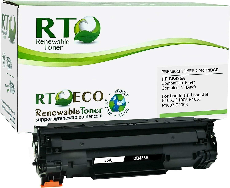 Renewable Toner Compatible Toner Cartridge Extra High Yield Replacement for HP 35A CB435A Laserjet P1002 P1003 P1004 P1005 P1006/P1009