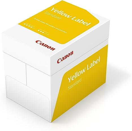 Canon Alemania Yellow Label estándar Papel multifunción, 5 x 500 ...