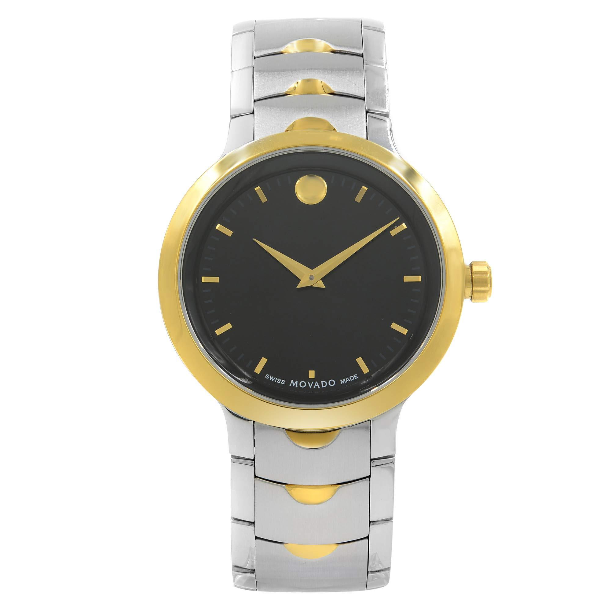Movado Luno Quartz Male Watch 0607043 (Certified Pre-Owned)