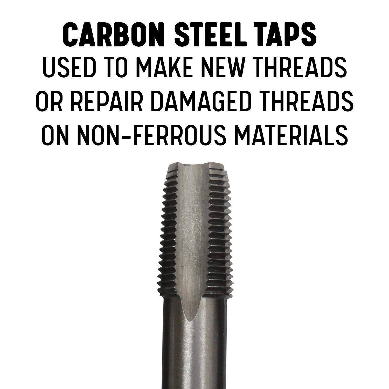 6 Piece Carbon Steel NPT Pipe Tap Set 1//8