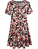ZENNILO Women's Loose Fit Casual Swing T-Shirt Dress with Pockets