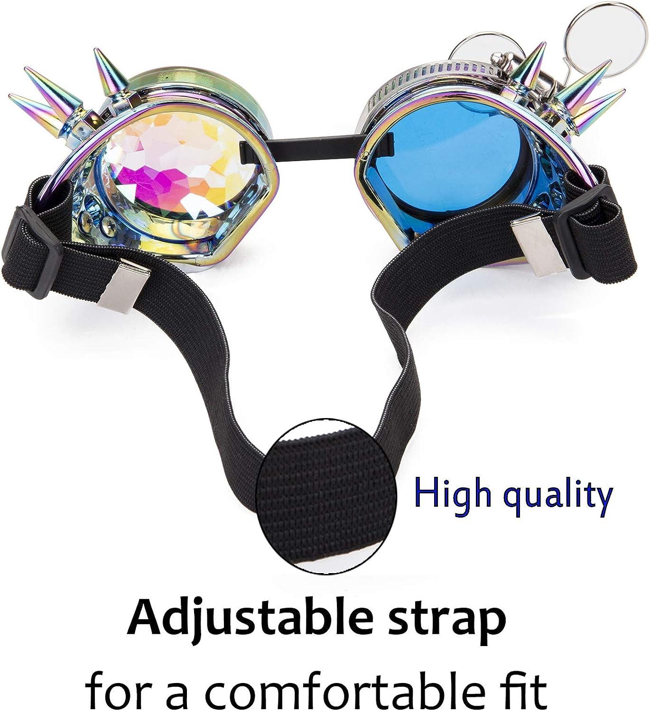 Lelinta Victorian Style Steampunk Goggles Ocular Loupe Eyewear Costume Accessory