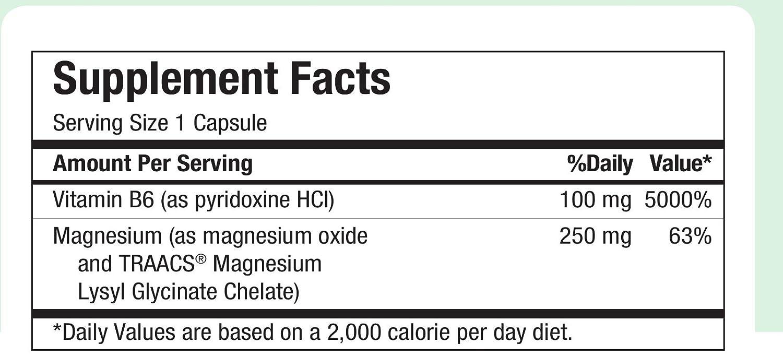 Amazon.com: Maxi Health MAG 6 - Magnesium - with Vitamin B6 - Kidney Stones Support - 120 Capsules - Kosher: Health & Personal Care
