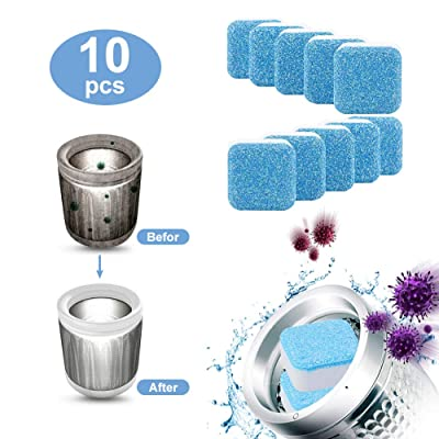 10pcs Solid Washing Machine Cleaner Effervescent Tablet Washer Cleaner Deep Cleaning Remover with Triple Decontamination for Bath Room Kitchen: Health & Personal Care