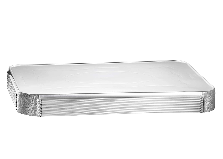 Disposable Aluminum Steam Table Pans 20, With Lids Full-Size Medium Foil Pan 20.75 x 12.8 x 2.2 Depth