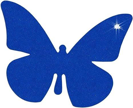 Reflektor Aufkleber Schmetterling Reflexfolie Sticker Reflektierend Dunkelblau Sport Freizeit
