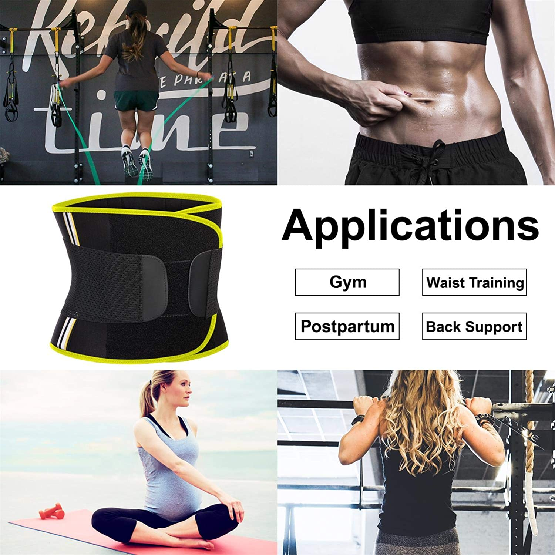 Hourglass Waist Trainer Slimming Belly Belt Neoprene Sauna Sweat Band Girdle for Women Weight Loss Back Support