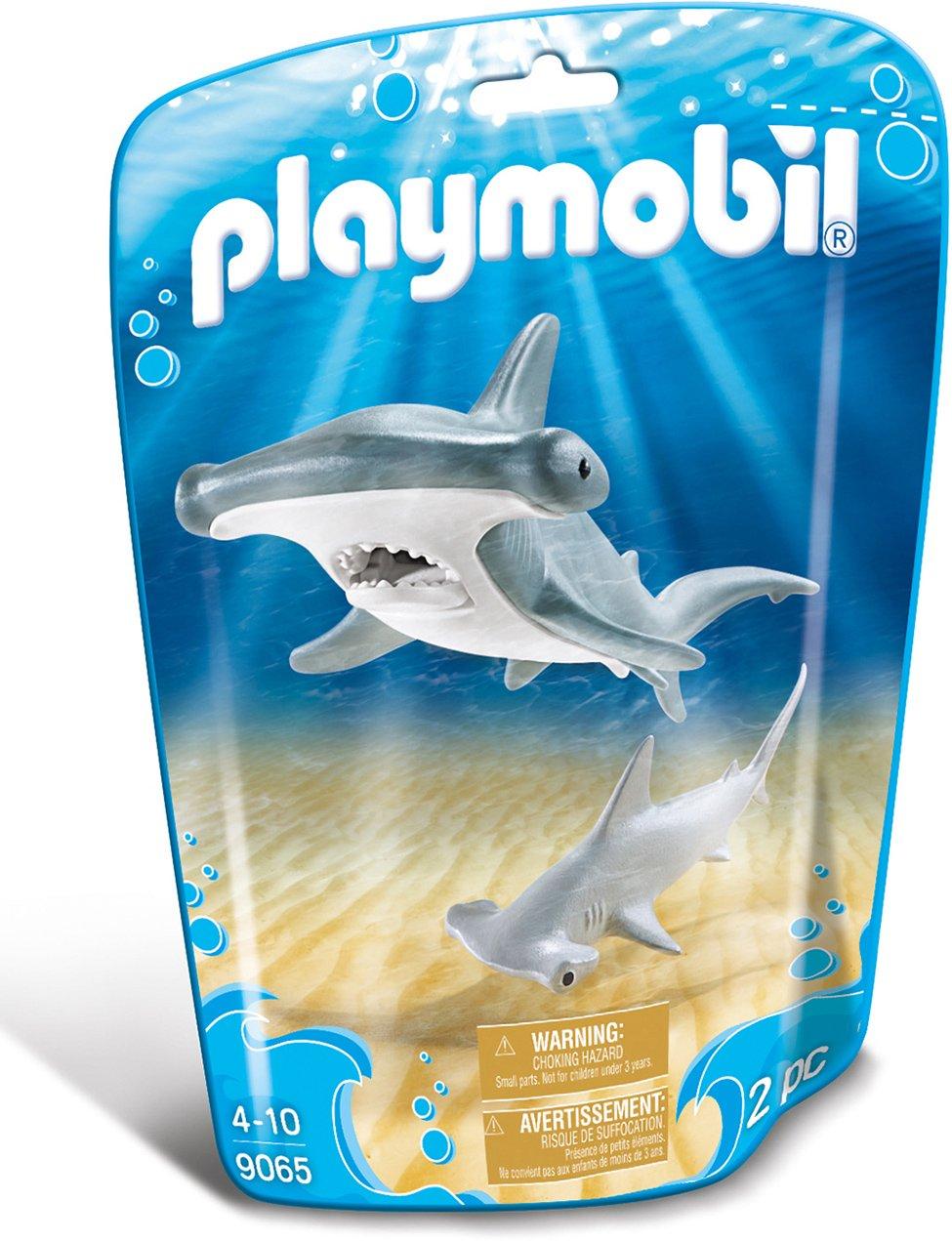 Playmobil-9065 Tibur/ón Martillo y Beb/é 9065 Gris Color Blanco