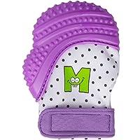 Munch Mitt Purple Dots Teething Mitten for 3-12 Months Baby, Purple