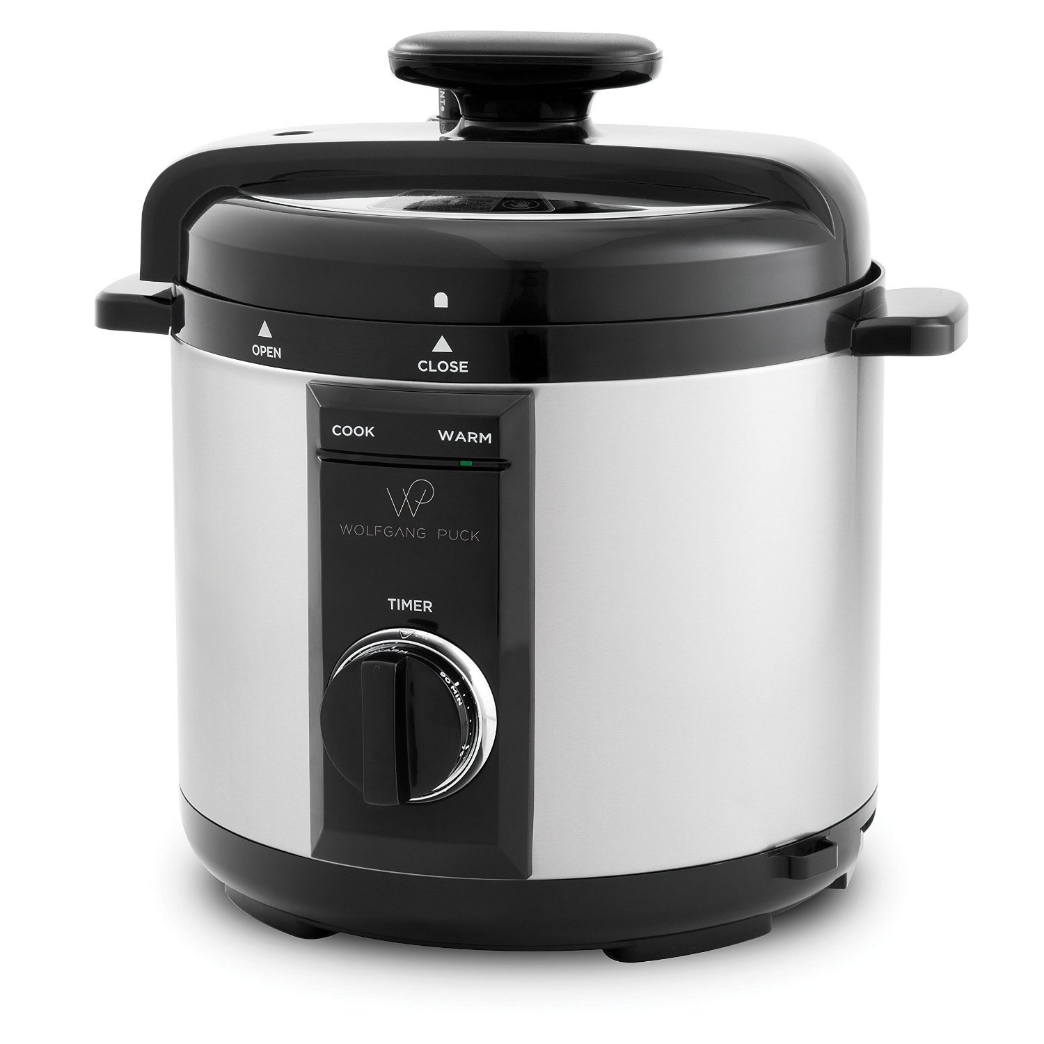 Wolfgang Puck Automatic Pressure Cooker with Removable 8 Quart Pot, 1200-Watt Cook and Sear