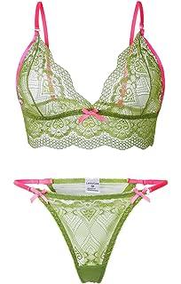 4d17e04a51 LamourLove Sexy Lingerie for Women for Sex lace bra set Babydoll Sleepwear  Strap Bustier Underwear Suit