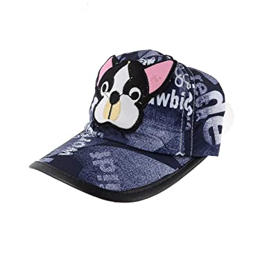 f4cd03563 Shop Frenzy Baby Boy's and Baby Girl's Cartoon Soft Cotton Printed  Adjustable Cap (Blue, 1-2 Years): Amazon.in: Clothing & Accessories