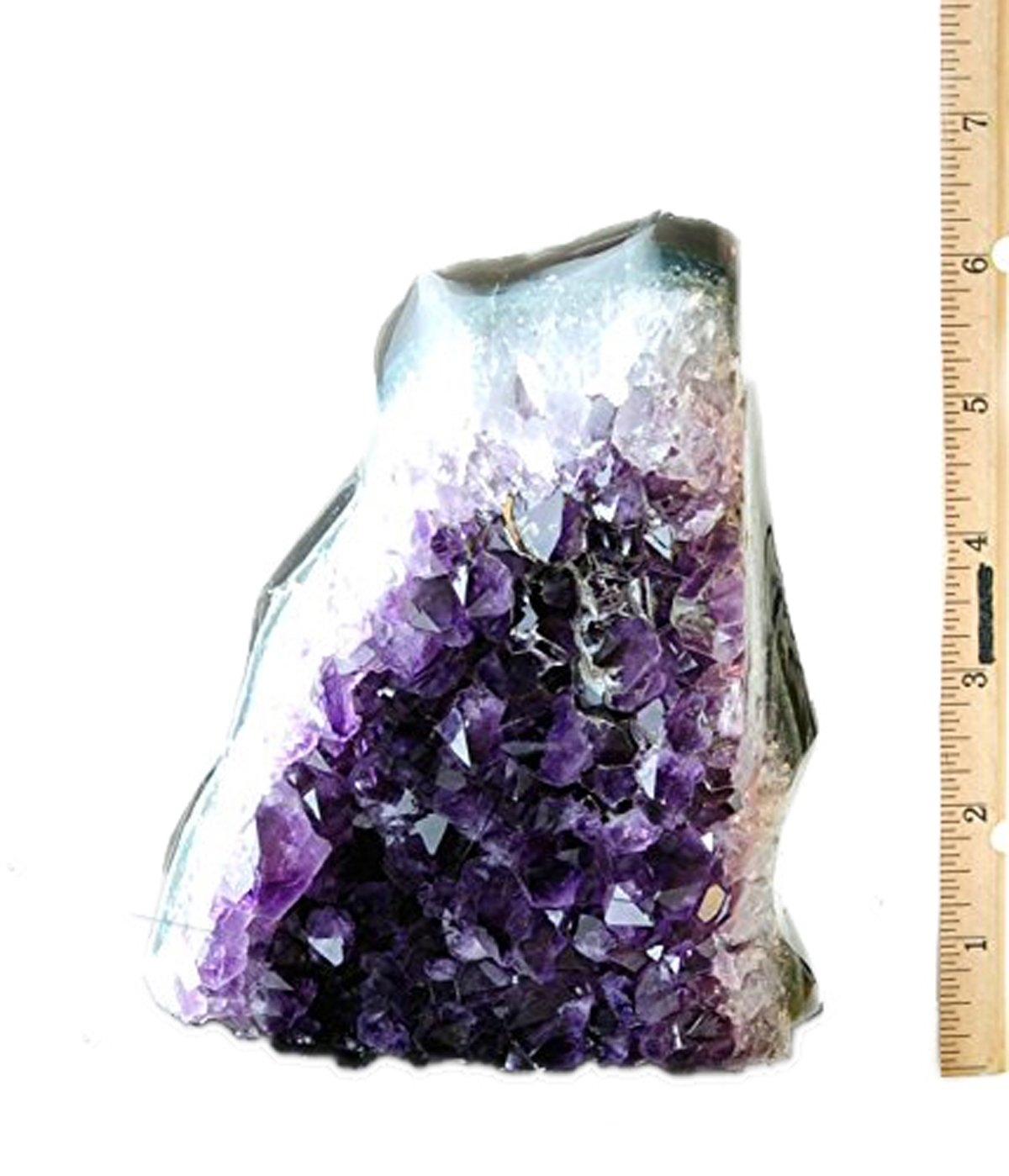 JIC Gem Class 1 Polished Deep Purple Uruguay Amethyst Upright Standing Stone Home Decor : 6-7 Lb by JIC Gem (Image #6)