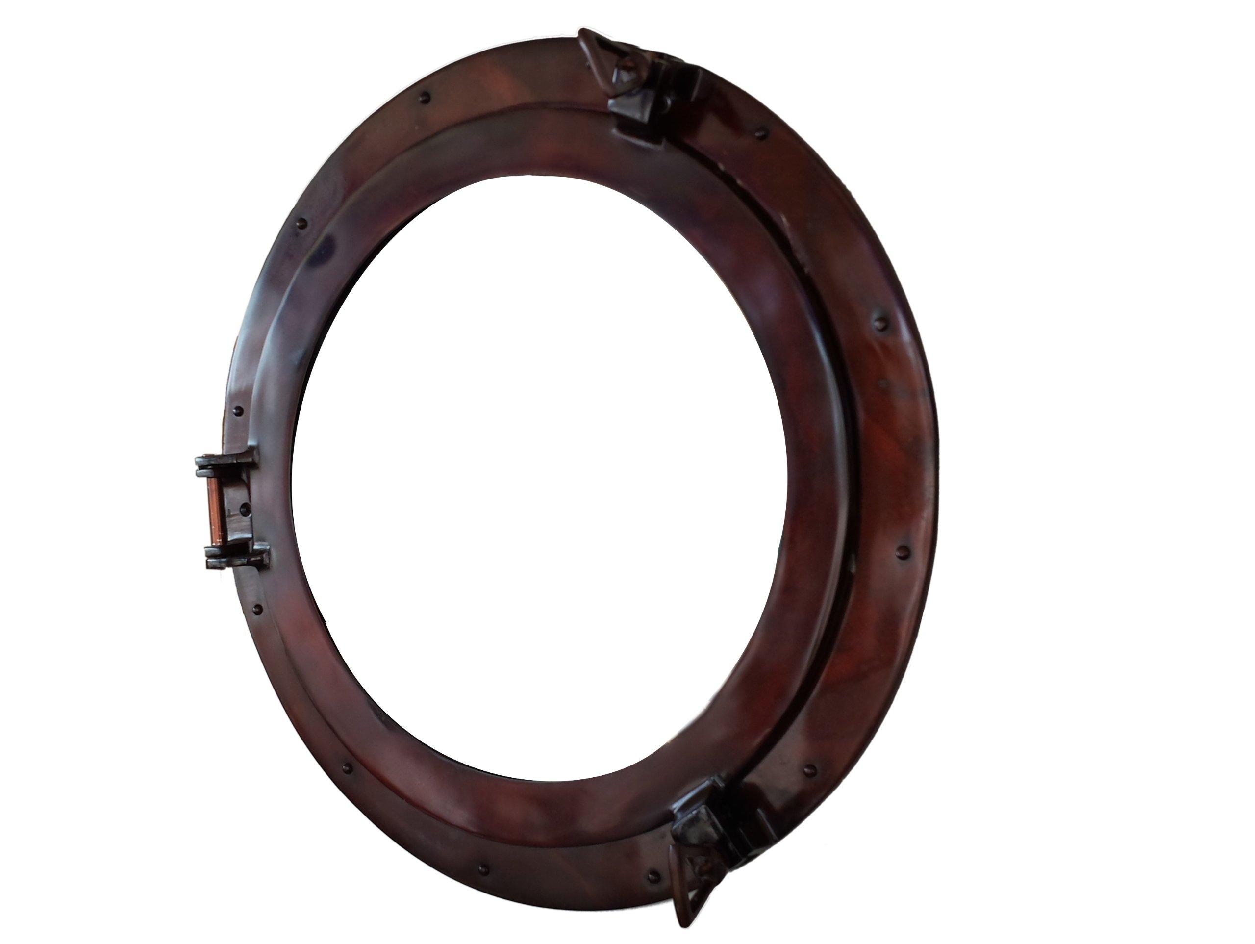 Deluxe Class Antique Copper Porthole Window 20'' - Rustic Port Hole