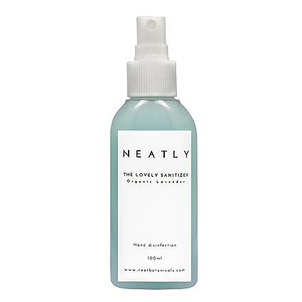 Perfectamente Sanitizer desinfectante de manos (100 ml) orgánico lavanda, hand-sanitiser dispensador