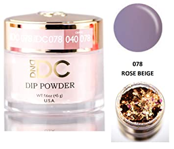 DND DC Neutrals DIP POWDER for Nails 1 6oz, 45g, Daisy Dipping (with bonus  side Glitter) Made in USA
