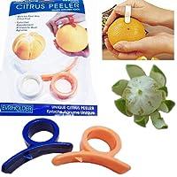 Naisedier 2 x Orange Opener Peeler Slicer Cutter Plastic Lemon Citrus Fruit Skin Remover