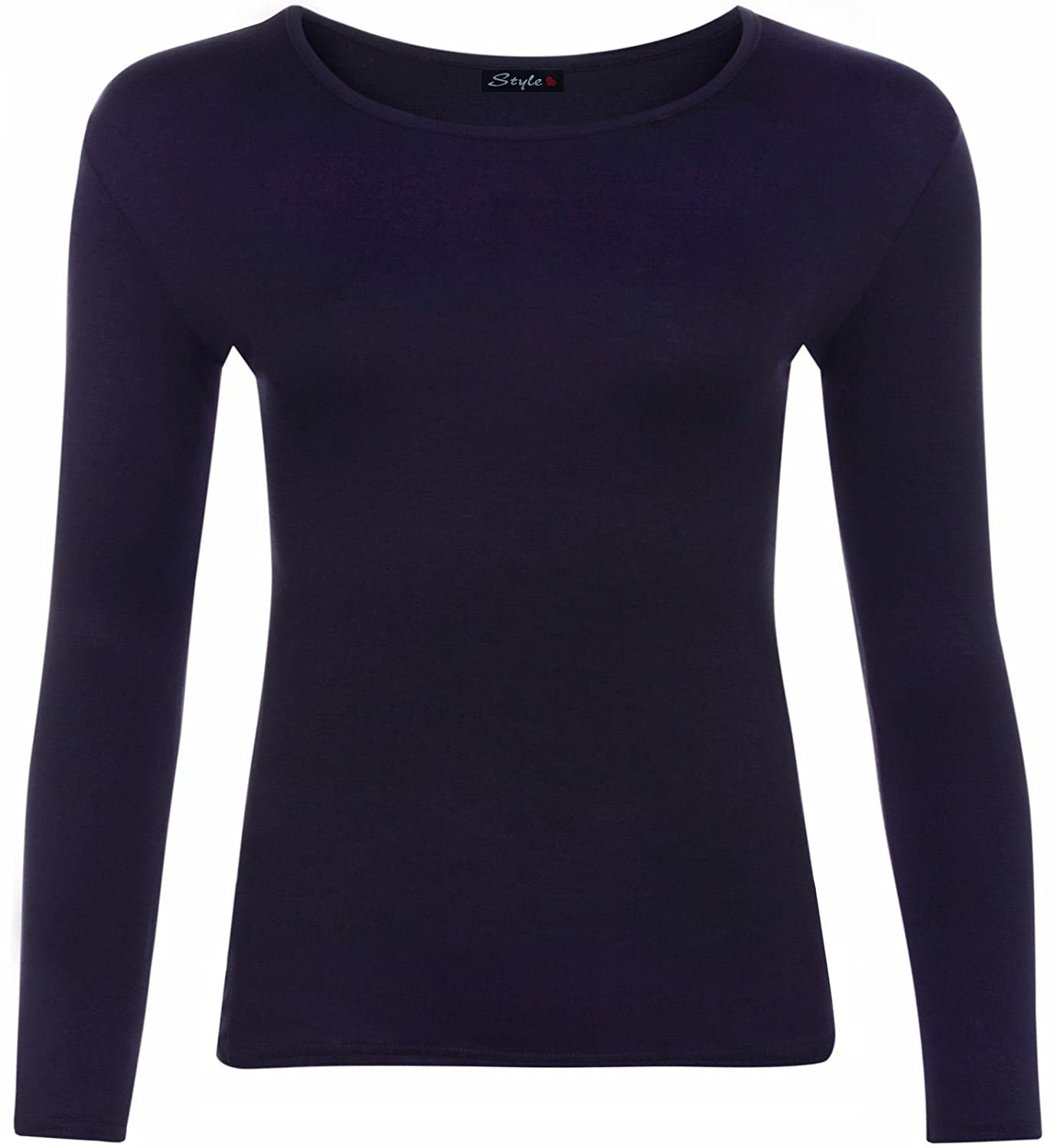 New Girls Long Sleeve Top Kids Plain All Colour Tee Tops T-Shirt Age 2-13 Years