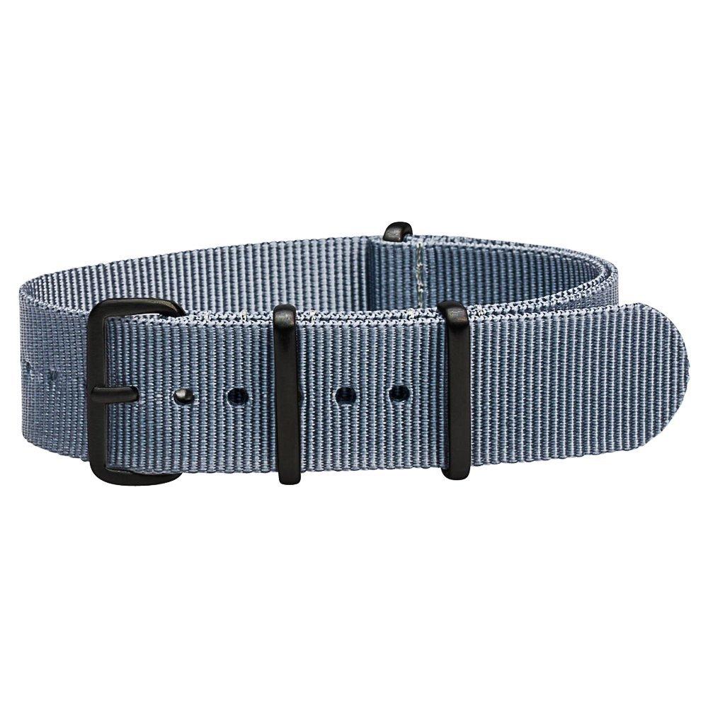 Clockwork SynergyプレミアムナイロンNATO時計ストラップバンドPVDブラックハードウェア 22mm|グレー グレー 22mm B006JMUG70