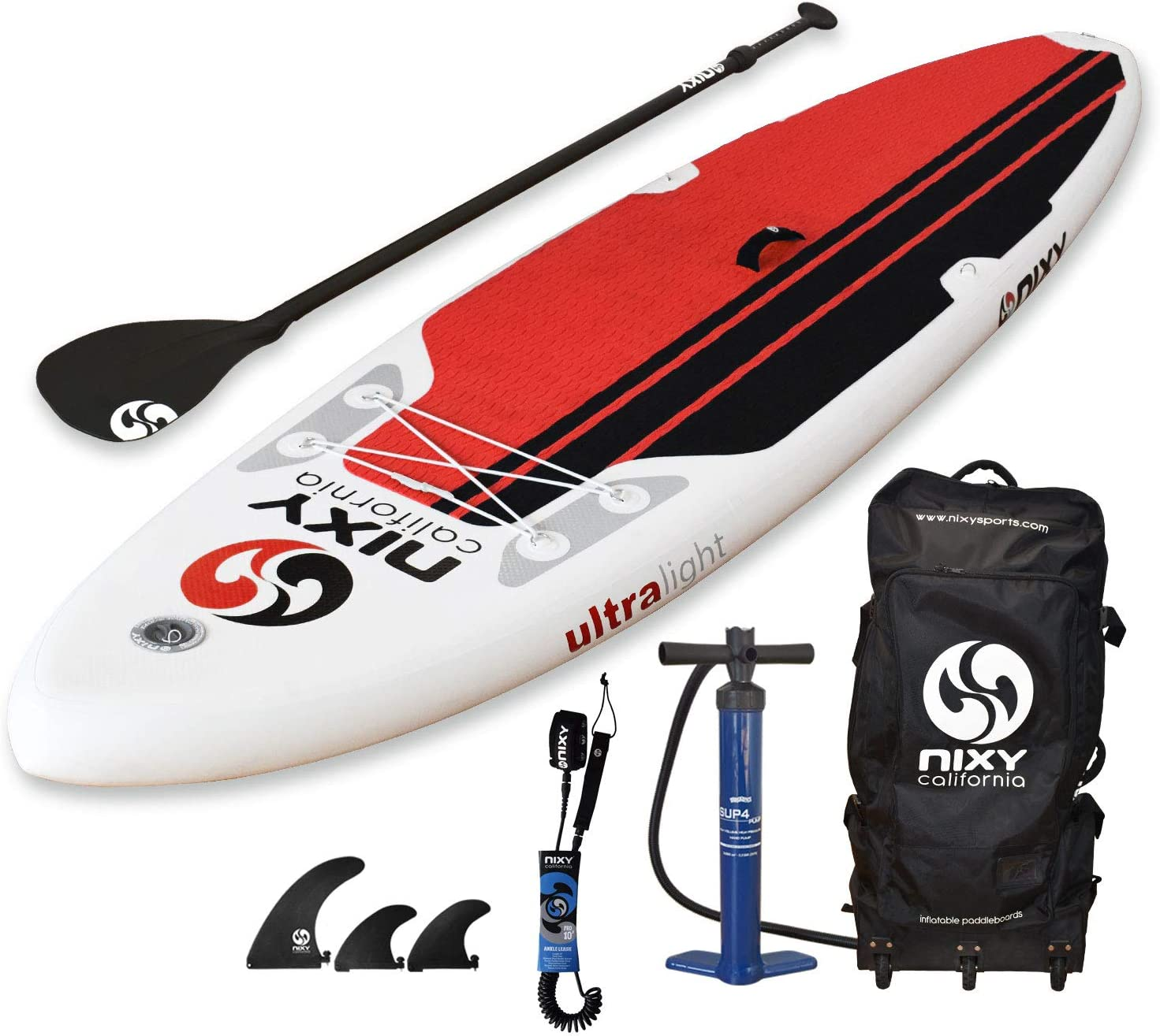 NIXY All Around Inflatable Stand Up Paddle Board Package. Ultra ...