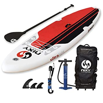 NIXY All Around Inflatable Stand Up Paddle Board Package. Ultra Light 106 Board