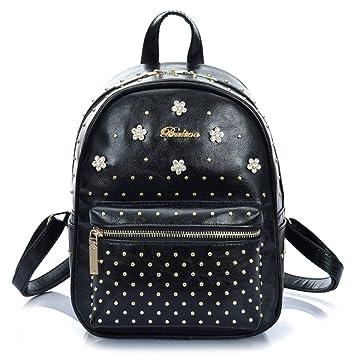 KIU Damas moda moda bandolera/Mochila tachas estrella/Portable/-Una pequeña bandolera/Paquete retro de juventud: Amazon.es: Equipaje