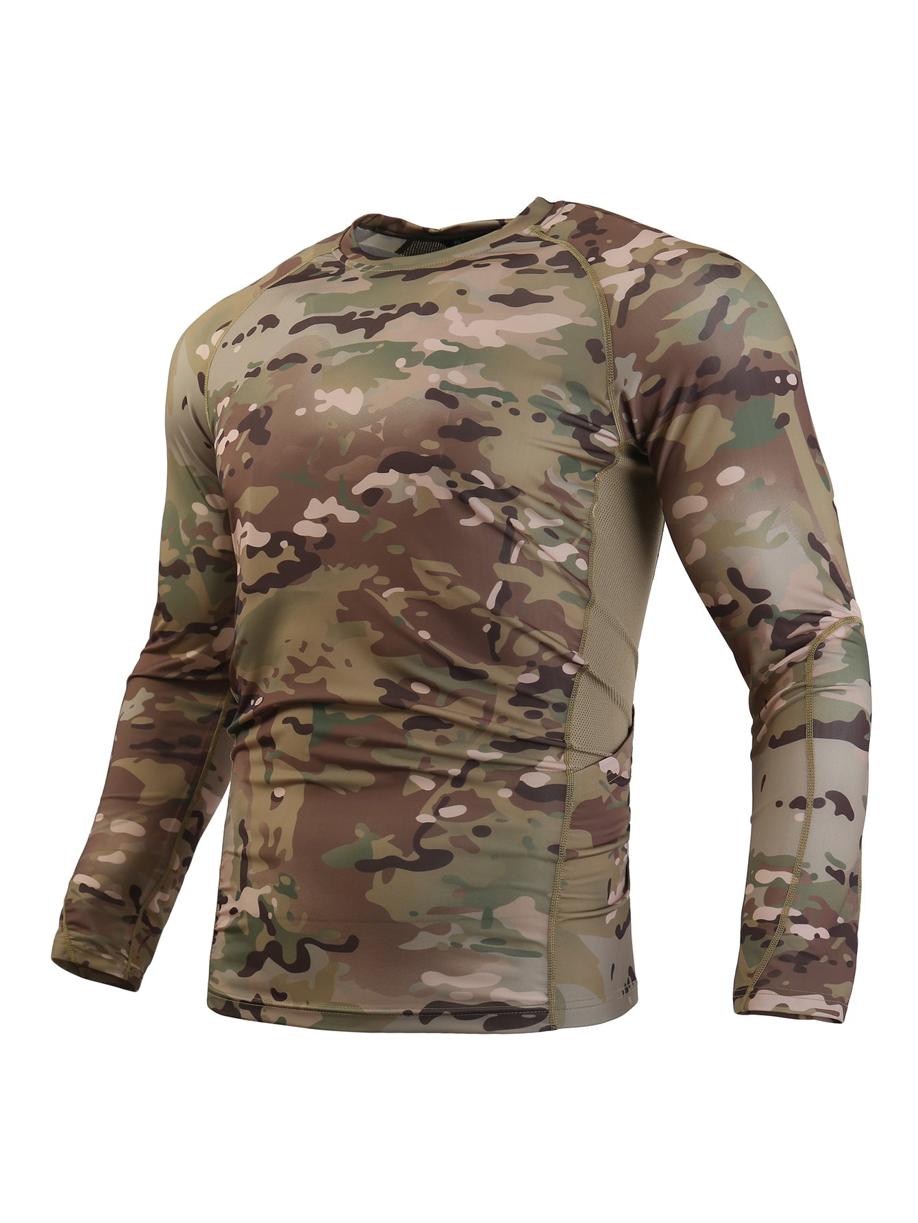 WARCHIEF Tactical Long Sleeve Shirt Camouflage Military T-Shirt Sportswear MC