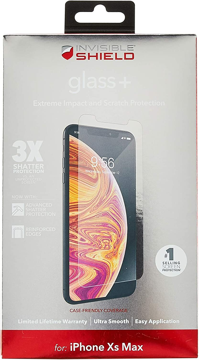 ZAGG InvisibleShield Glass XS 3X Impact Protection iPhone X Privacy Screen Protector for Apple